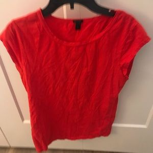Red J Crew T shirt
